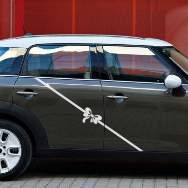 Sticker Ruban noeud - stickers ruban & autocollant voiture - stickmycar.fr