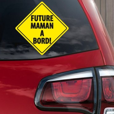 Sticker Future maman à bord - stickers bébé à bord & autocollant voiture - stickmycar.fr