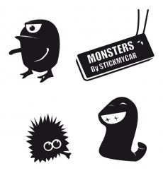Sticker Pack monstres 2
