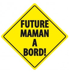 Sticker Future maman à bord