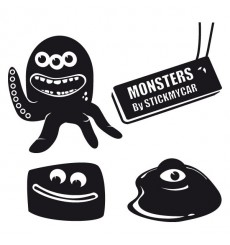 Sticker Pack monstres 3