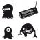 Sticker Pack monstres 4 - stickers monstre & autocollant voiture - stickmycar.fr