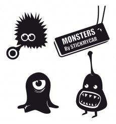 Sticker Pack monstres 5