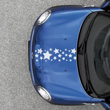 Sticker Frise étoiles - stickers frise & stickers auto - stickmycar.fr