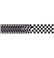 Sticker Frise damiers pneu