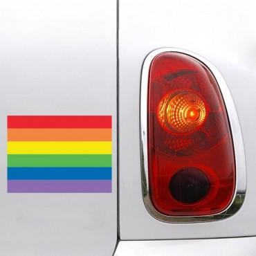 Sticker Drapeau Arc en ciel - stickers drapeaux & autocollant voiture - stickmycar.fr
