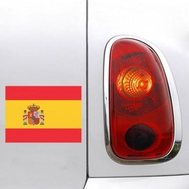 Sticker Drapeau Espagne - stickers drapeaux & autocollant voiture - stickmycar.fr