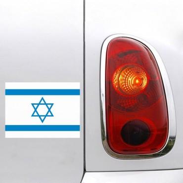 Sticker Drapeau Israel - stickers drapeaux & autocollant voiture - stickmycar.fr