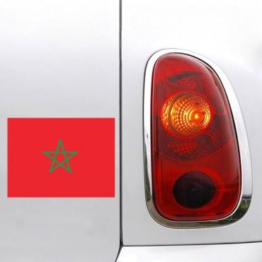 Sticker Drapeau Maroc - stickers drapeaux & autocollant voiture - stickmycar.fr