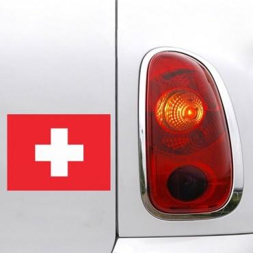 Sticker Sticker drapeau Suisse - stickers drapeaux & autocollant voiture - stickmycar.fr