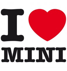 Sticker I love Mini
