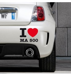 Sticker I love ma 500