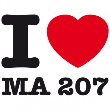 Sticker I love ma 207 - stickers i love & autocollant voiture - stickmycar.fr