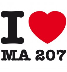 Sticker I love ma 207