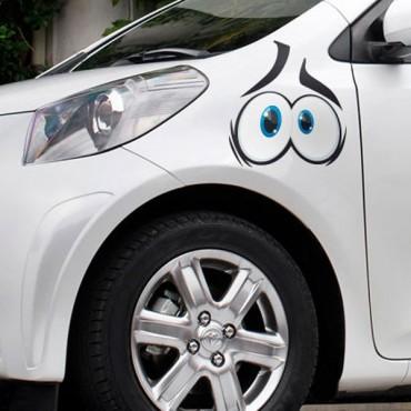Sticker Yeux cartoon 1 - stickers yeux & autocollant voiture - stickmycar.fr