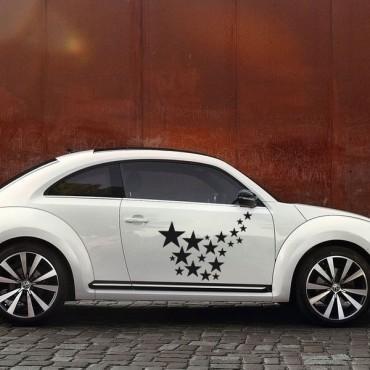 Sticker Trainée d'étoiles - stickers étoiles & stickers auto - stickmycar.fr