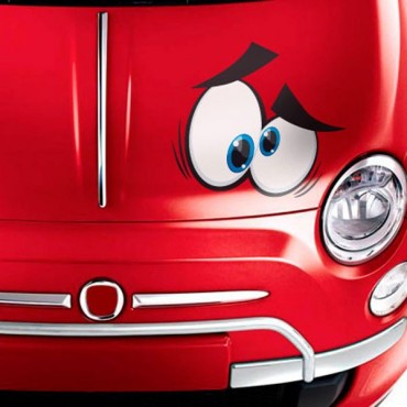 Sticker Yeux cartoon 3 - stickers yeux & autocollant voiture - stickmycar.fr