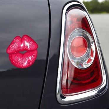 Sticker Trace de lèvres - stickers design & autocollant voiture - stickmycar.fr