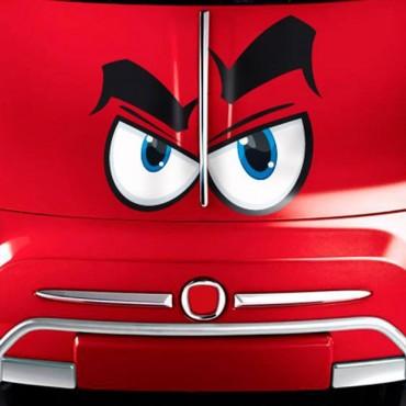 Sticker Yeux cartoon 5 - stickers yeux & autocollant voiture - stickmycar.fr