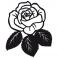 Sticker Rose feuilles - stickers fleurs & stickers auto - stickmycar.fr