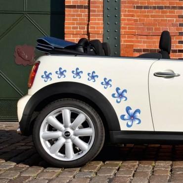 Sticker Fleurs bleues - stickers fleurs & stickers auto - stickmycar.fr