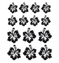 Sticker Fleurs hibiscus