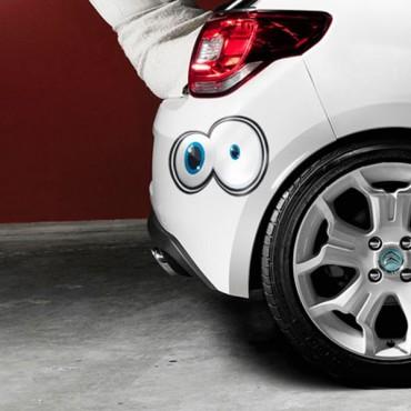 Sticker Yeux cartoon 6 - stickers yeux & stickers auto - stickmycar.fr