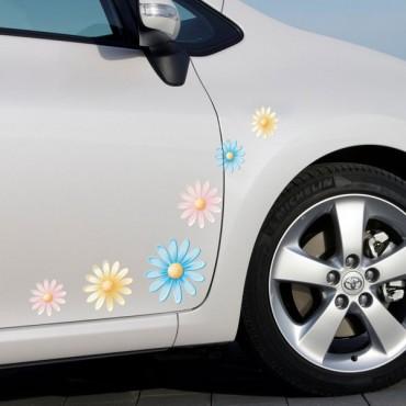 Sticker Fleurs multicolores - stickers fleurs & autocollant voiture - stickmycar.fr