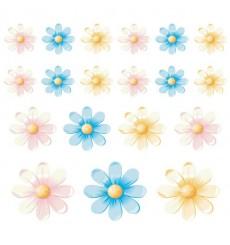 Sticker Fleurs multicolores 3