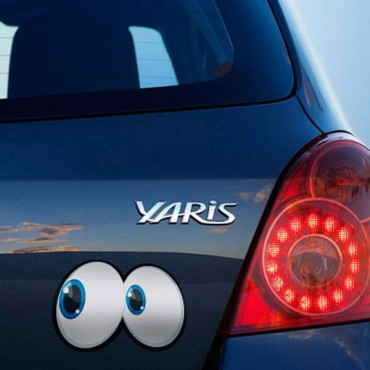 Sticker Yeux cartoon 7 - stickers yeux & autocollant voiture - stickmycar.fr