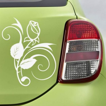 Sticker Rose design - stickers fleurs & autocollant voiture - stickmycar.fr