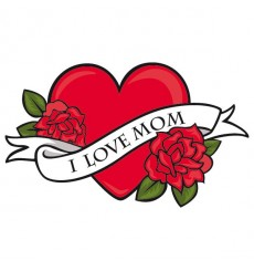 Sticker I love mom