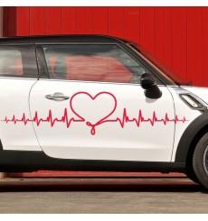 Sticker Battements de coeur