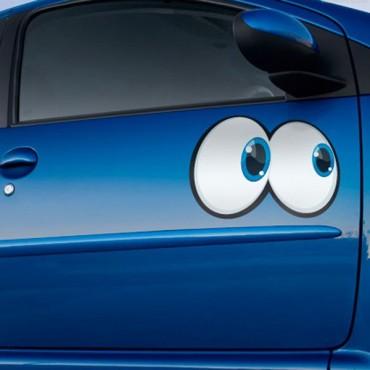 Sticker Yeux cartoon 9 - stickers yeux & autocollant voiture - stickmycar.fr