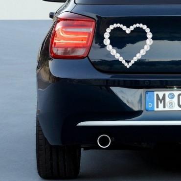 Sticker Coeur diamants - stickers coeur & autocollant voiture - stickmycar.fr