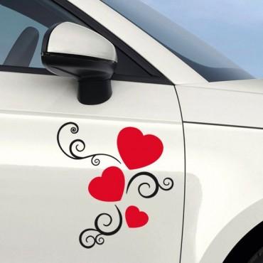 Sticker Coeurs déco - stickers coeur & autocollant voiture - stickmycar.fr