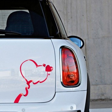 Sticker Ruban coeur - stickers ruban & stickers auto - stickmycar.fr