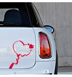 Sticker Ruban coeur