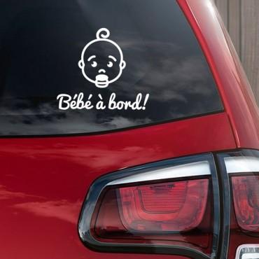 Sticker Bébé à bord visage garçon - stickers bébé à bord & autocollant voiture - stickmycar.fr
