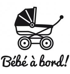 Sticker Bébé à bord landeau