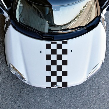 Sticker Damier 4 lignes - stickers damier & autocollant voiture - stickmycar.fr