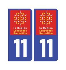 Sticker plaque Aude 11 - Pack de 2