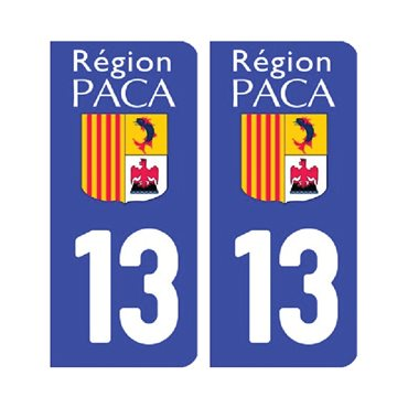 Sticker plaque Bouches-du-Rhône 13 - Pack de 2 - stickers plaque d'immatriculation & stickers auto - stickmycar.fr