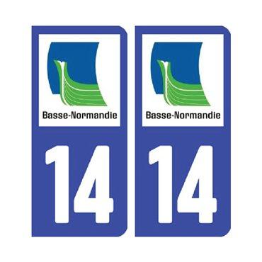 Sticker plaque Calvados 14 - Pack de 2 - normandie & autocollant voiture - stickmycar.fr