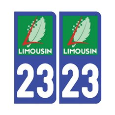 Sticker plaque Creuse 23 - Pack de 2