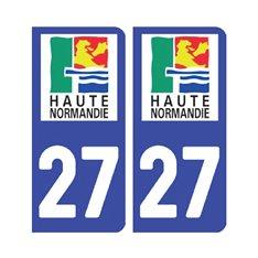 Sticker plaque Eure 27 - Pack de 2