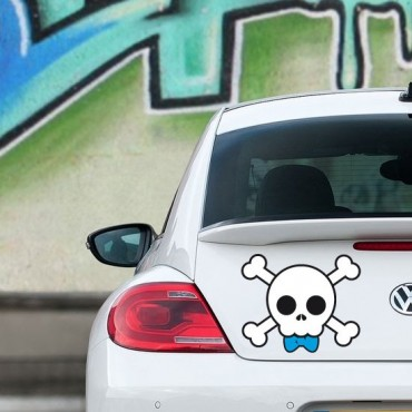 Sticker Skull boy - stickers tête de mort & autocollant voiture - stickmycar.fr