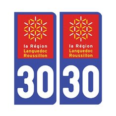 Sticker plaque Gard 30 - Pack de 2
