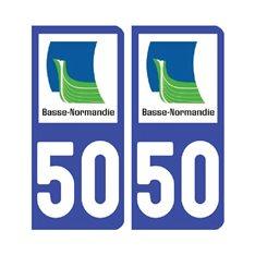 Sticker plaque Manche 50 - Pack de 2