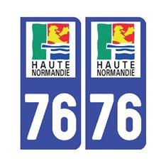 plaque Seine-Maritime 76 - Pack de 2